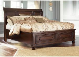MB30 Vintage Cherry Queen Storage Platform Bed