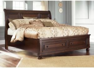 MB30 Vintage Cherry King Storage Platform Bed