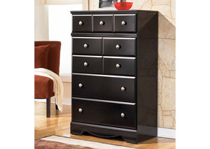 MB20 Black Merlot 5-Drawer Chest