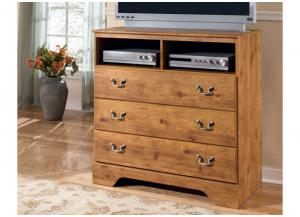 MB9 Light Pine Country Media Chest