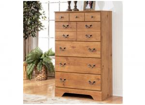 MB9 Light Pine Country 5-Drawer Chest
