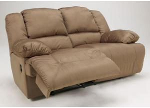 LR13 Mocha Plush Reclining Loveseat