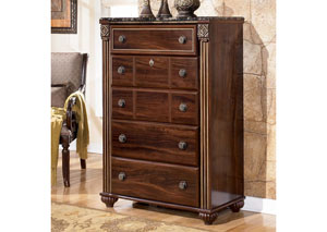 MB24 Old World Dark 5-Drawer Chest