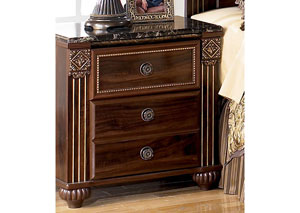 MB24 Old World Dark Nightstand