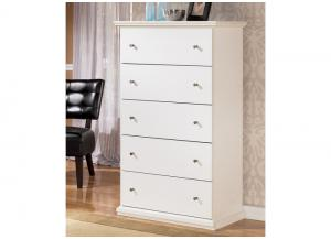 MB5 Cottage White 5-Drawer Chest