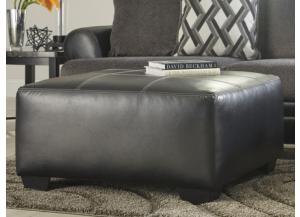 Diamond Smoke Oversize Accent Ottoman
