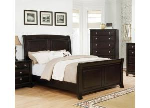 MB170 Espresso Transitional Queen Sleigh Bed