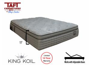 King Koil Graham Cushion Firm Pillow Top Twin Mattress