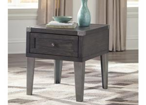 Dark Gray Accent End Table