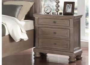 MB74 Pewter Vintage Nightstand