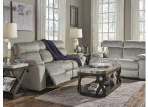 Granite Power Reclining Sofa with Adjustable Headrest