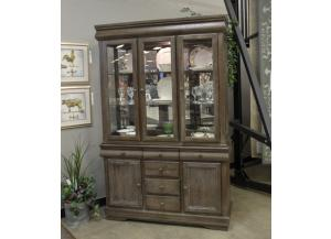 DR142 Gray 2-Piece China Cabinet