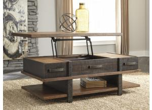 Acacia 2-Tone Lift-Top Cocktail Table