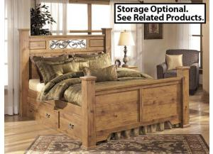 MB9 Light Pine Country Queen Poster Bed