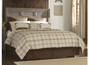 MB10 Rustic Oak Queen Panel Headboard