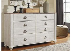 MB107 2-Tone Whitewash Dresser