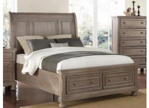 MB74 Pewter Vintage King Storage Bed