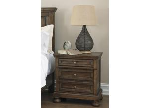MB153 Burnished Brown Nightstand