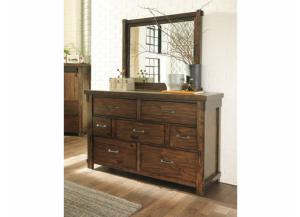 MB136 Rustic Brown Dresser & Mirror