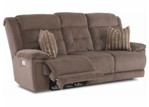 Geordie Coffee Bean Power Reclining Sofa w/ Adjustable Headrest & Lumbar
