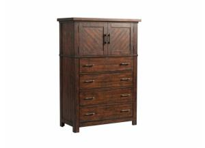 MB128 Rustic 5-Drawer Chest