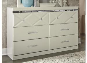 MB77 White Contemporary Dresser