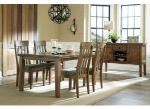 DR156 Medium Brown Dining Table & 4 Chairs