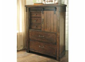 MB136 Rustic Brown 5-Drawer Chest