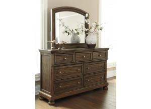 MB153 Burnished Brown Dresser and Mirror
