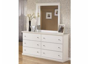 MB5 Cottage White Dresser & Mirror