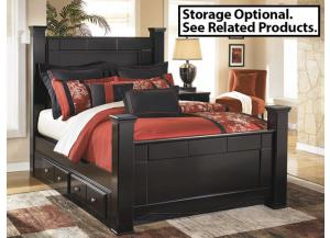 MB20 Black Merlot Queen Poster Bed