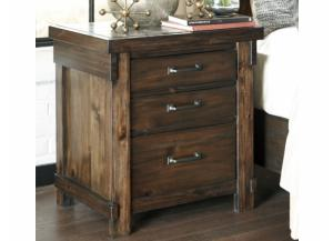 MB136 Rustic Brown Nightstand