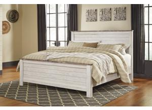 MB107 2-Tone White King Panel Bed