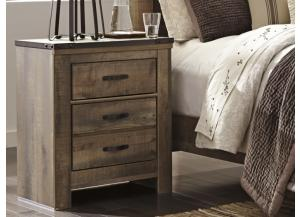 MB60 Vintage Brown 2-Drawer Nightstand
