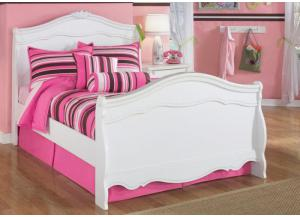 YB1 Chrystal White Full Sleigh Bed