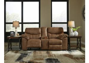 Bark Double Reclining Loveseat w/Console