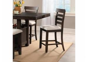 DR144 Dark Walnut Counter Stool: Set of 2