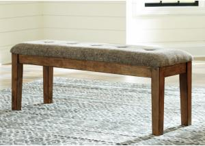 DR156 Medium Brown Upholstered Side Bench