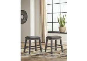 DR159 Gray Backless Stool: Set of 2