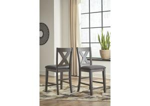DR159 Gray Counter Stool: Set of 2