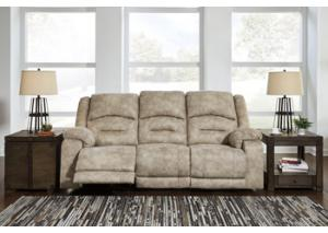Graystone Power Reclining Sofa w/ Adjustable Headrest