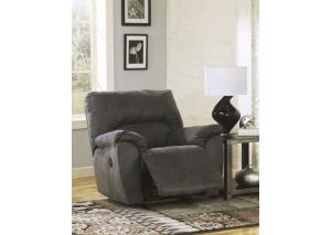 LR4 Contemporary Gray Rocker Recliner