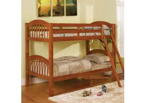 Oak Twin Bunk Bed