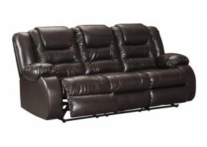 Performance Brown Reclining Sofa