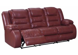 Performance Red Reclining Sofa
