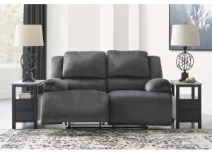 Plush Charcoal Power Reclining Loveseat