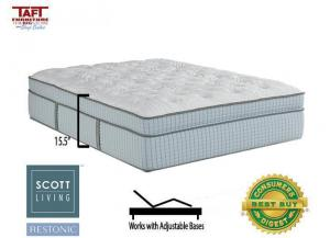 Scott Living Cascade Eurotop Full Mattress by Restonic