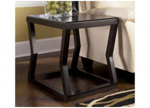 Espresso Finish Rectangular End Table