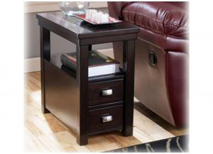 Espresso Chairside End Table