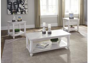 Vintage Chic White 3-Pack Table Set